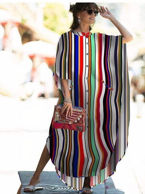 Wide Dress -Stripes