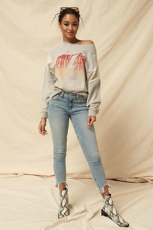Knit Graphic Sweatshirt