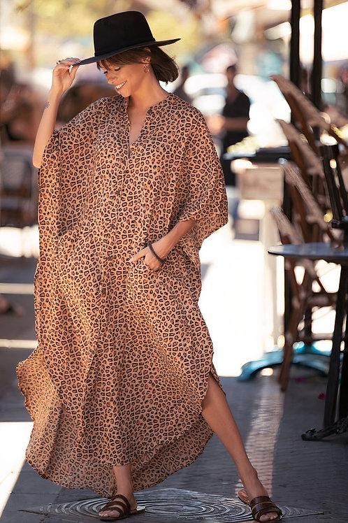 Wide Dress -Cheetah