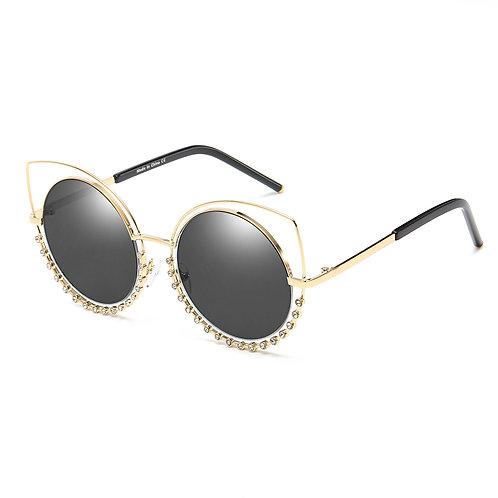 HOLLAND | A21 - Designer Pearl-Studded Cut-Out Cat Eye Princess Sunglasses