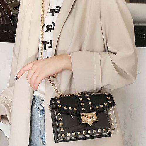 Betty Shoulder Bag -Clear/Black