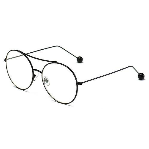 EUREKA | S1016 - Unisex Round Tinted Lens Aviator Clear Glasses