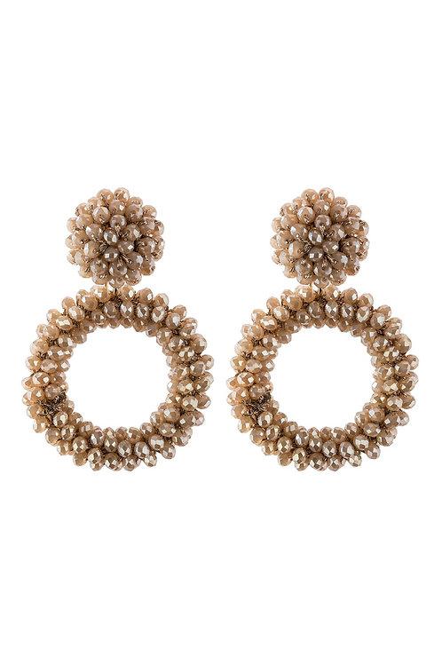 Hde2595 - Rondelle Hoops Post Earrings