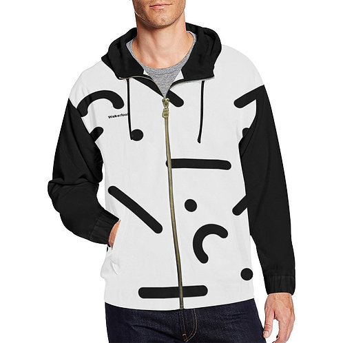 Wakerlook Digital Men's Print Full Zip Hoodie