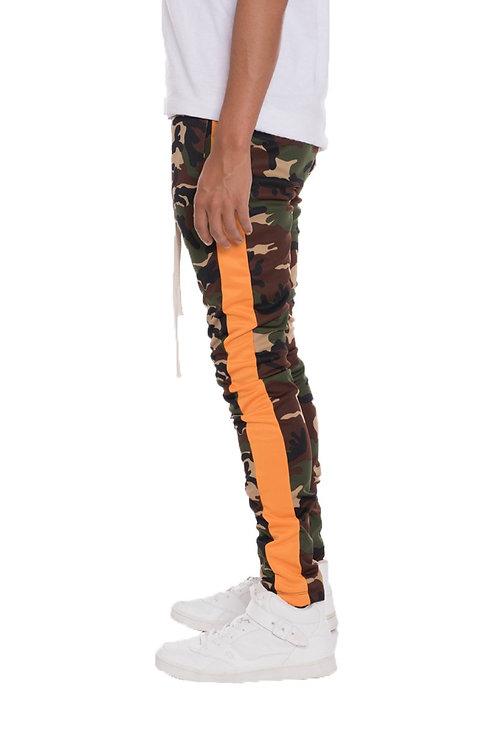 CAMO SIDE STRIPE TRACK PANTS