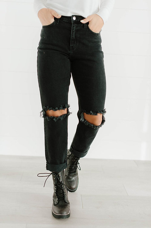On the Edge Distressed Jeans