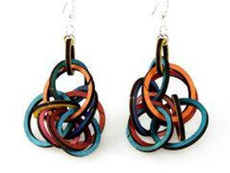 Interlocking Ring Earrings # 1215
