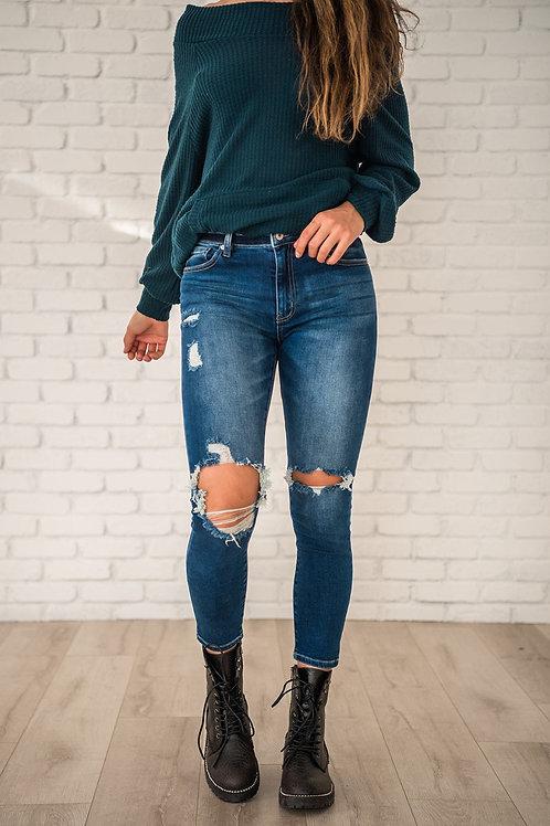 Bring You Joy Distressed Skinny Jeans