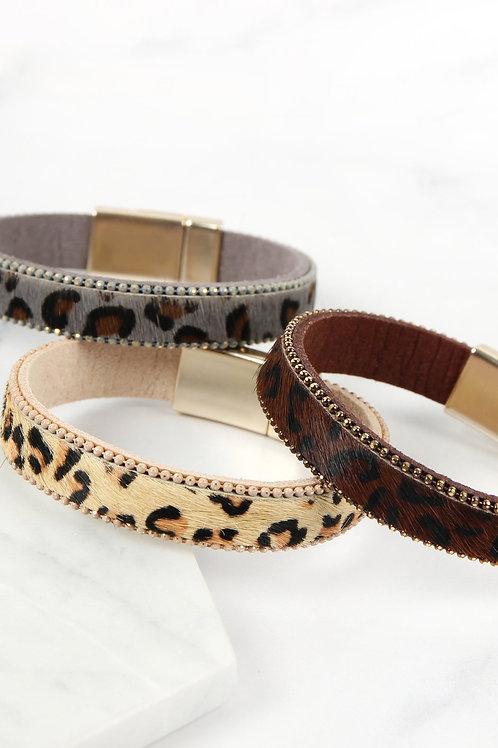 Leopard Magnetic Lock Bracelet