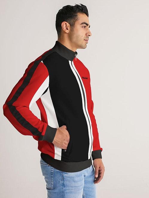 Wakerlook Men's Stripe-Sleeve Track Jacket