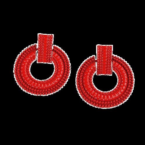 Petra -Red Earrings