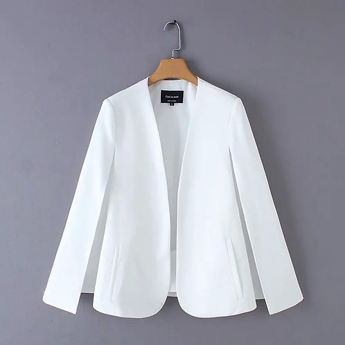 Split Design Women Cloak Suit Coat