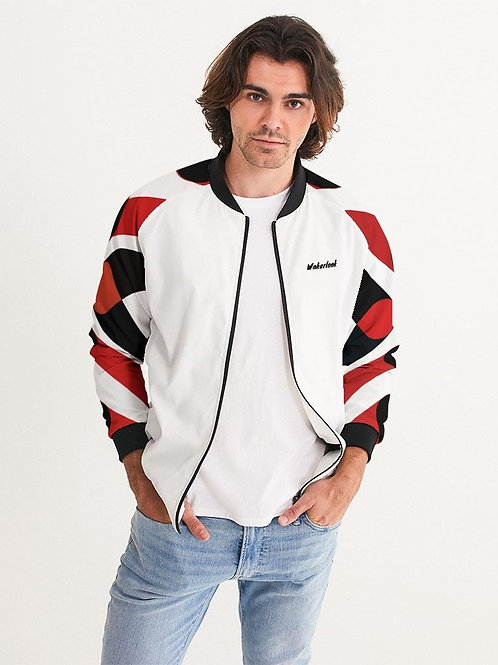 Wakerlook Red and Black Men's Bomber Jacket