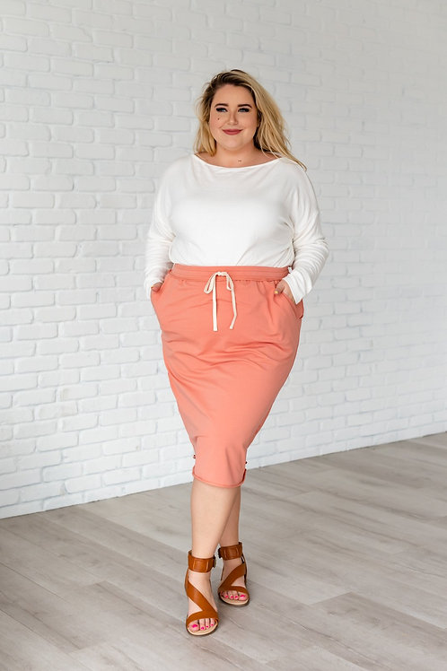 No Complaints Drawstring Skirt