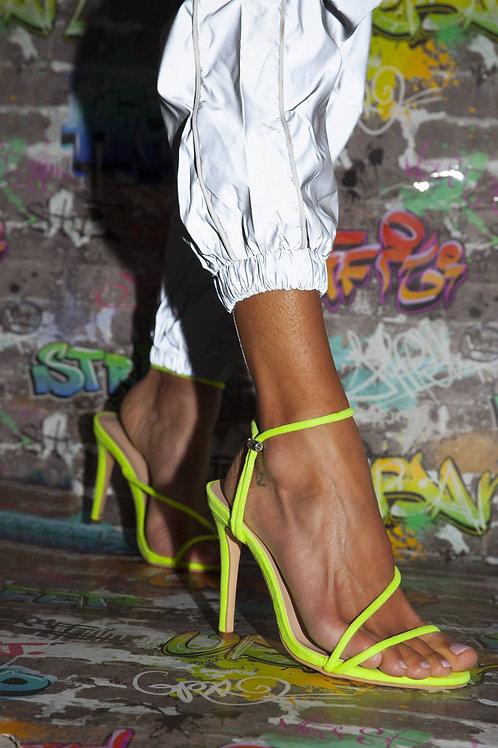 Sienna Neon Green Strappy Heels