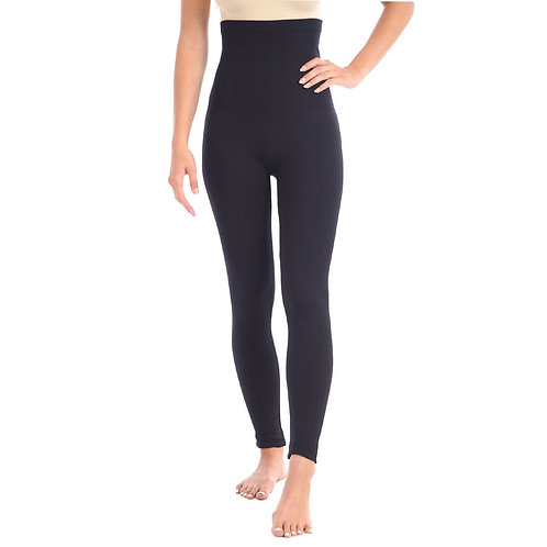 "New Full Shaping Legging With Double Layer 5"" Waistband - Black"