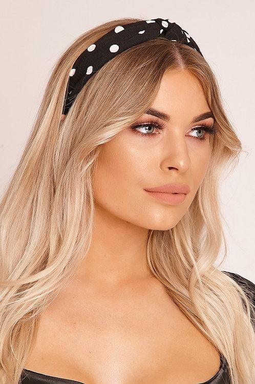 Alyssa Black Polka Dot Headband