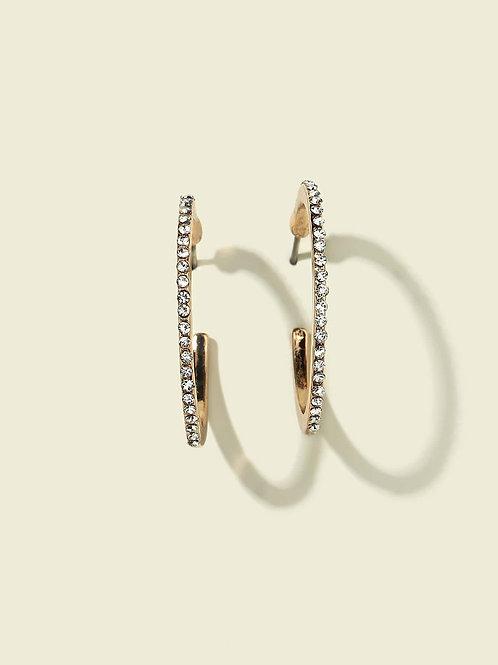 Classic Sparkle Hoop Earrings
