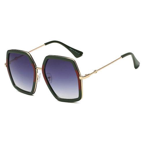 CORBIN | S2059 - Women Square XXL Retro Oversize Sunglasses