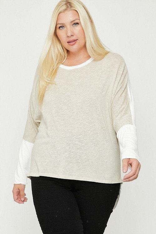Contrast Block Top