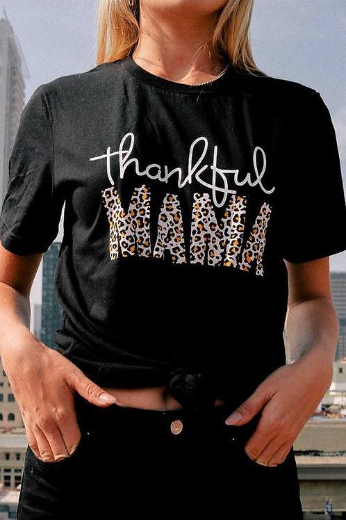 """Thankful Mama"" GRAPHIC TEE"