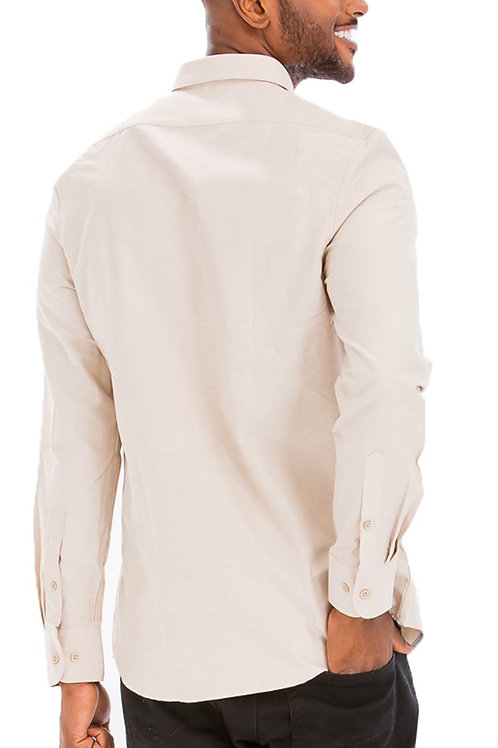 SIGNATURE LONG SLEEVE BUTTON DOWN SHIRT