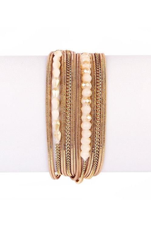 Multi Bead Wrap Bracelet