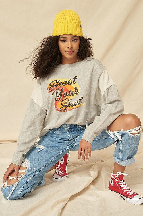 Terry Knit Graphic Sweatshirt