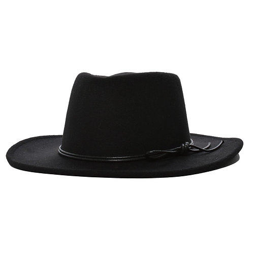 Mechaly Women's Jay Black Homburg Vegan Hat