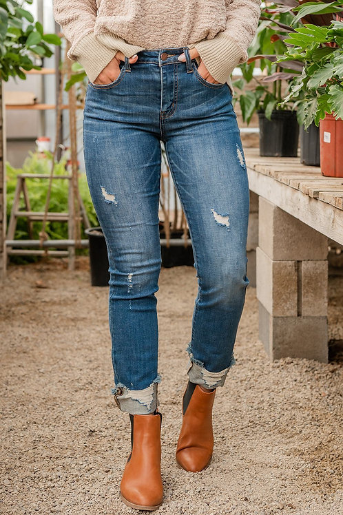 Fall Is Calling Cuffed Jeans