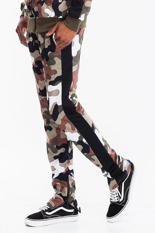 FULL CAMO TRACK PANTS