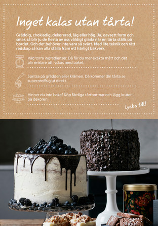 Inget kalas utan tårta