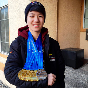 Surrey skater speeds his way to four golds, a silver at BC Winter Games
