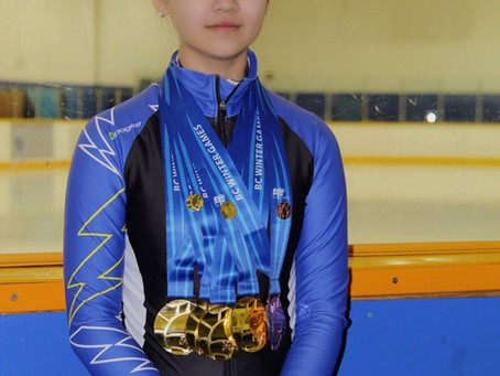 Caroline Dong won 4 gold medals at BC Winter Games