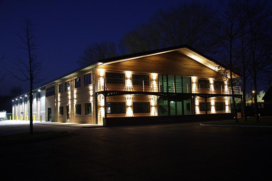 William Gilder Main Office at Night - we