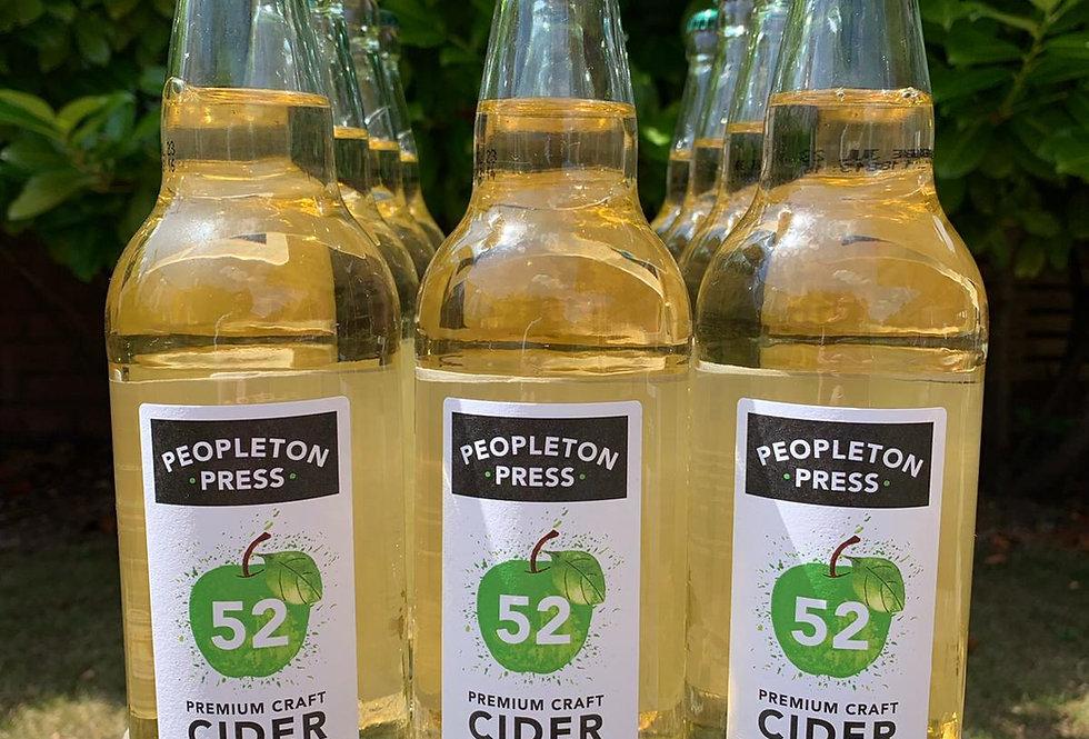 Peopleton Press 52 Medium Dry Craft Cider Box (12x 500ml bottles)