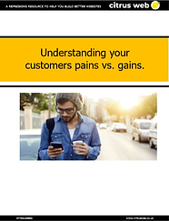 Understand your customers pains vs. gain