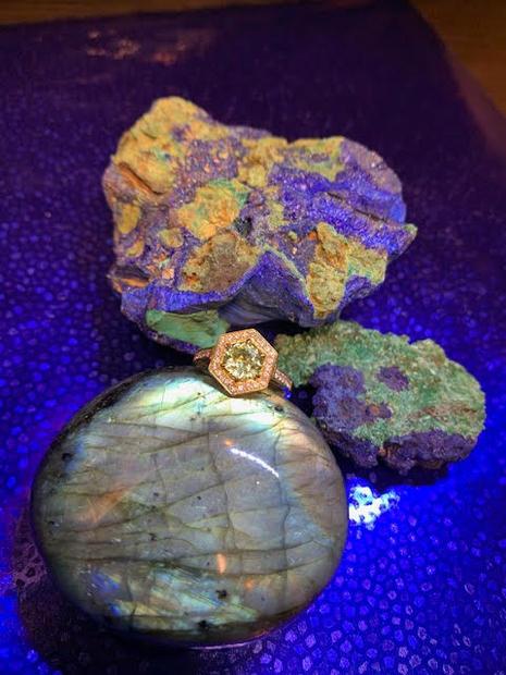 Mint Tourmaline Ring