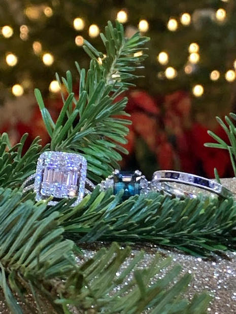 Square diamond ring