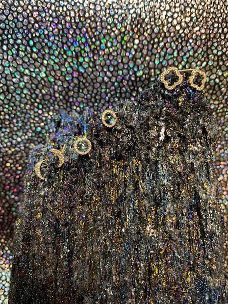 Petite diamond earrings