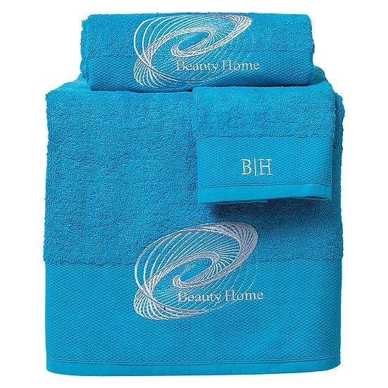 Σετ πετσέτες Art 3249 - Σετ 3τμχ Γαλάζιο Beauty Home