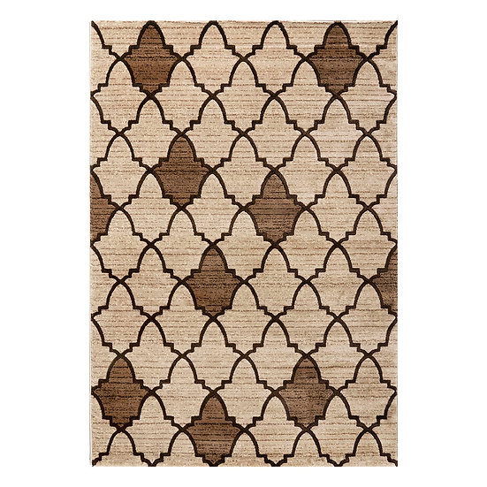 Χαλί Element Art 9709 Beige/L. Brown - 200x290 Καφέ, Μπεζ Beauty Home