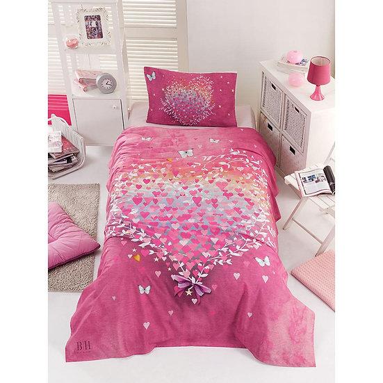 Σετ σεντόνια μονά Cult - 160x240 Ροζ Beauty Home