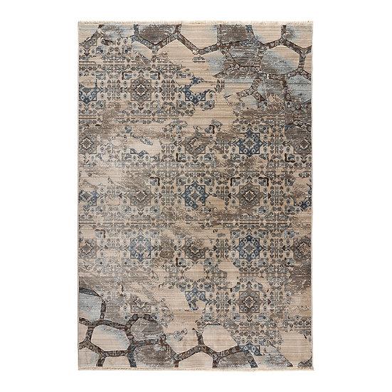 Πατάκι Bliss Art 9625 0.67x1.3 - 0.67x1.30 Μόκα, Μπεζ, Μπλε Beauty Home