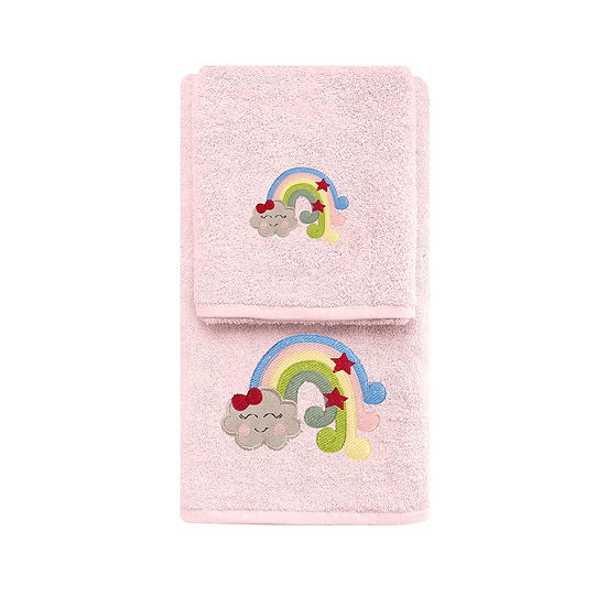 Σετ πετσέτες Art 5211 - Σετ 2τμχ Ροζ Beauty Home