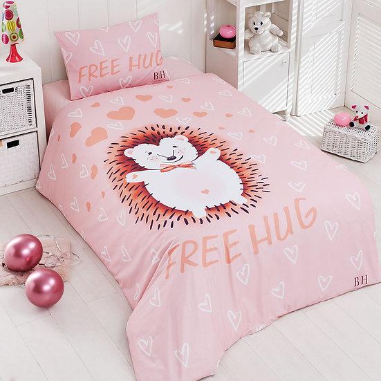Πάπλωμα μονό Hug Art 6165 - 160x240 Σομόν Beauty Home