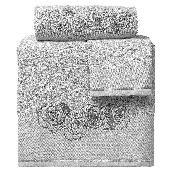Σετ πετσέτες Art 3250 - Σετ 3τμχ Γκρι Beauty Home