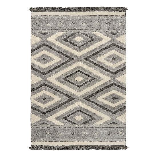 Χαλί Everest Art 9622 Grey/Grey - 165x230 Γκρι, Εκρού Beauty Home
