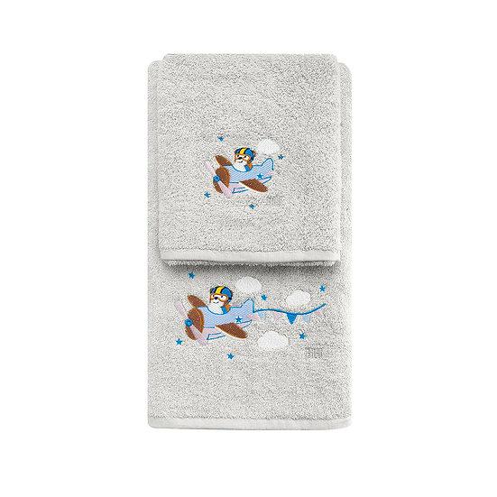 Σετ πετσέτες Art 5202 - Σετ 2τμχ Γκρι Beauty Home