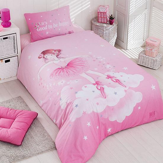 Πάπλωμα μονό Ballet Art 6163 - 160x240 Ροζ Beauty Home